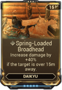 Spring-Loaded Broadhead