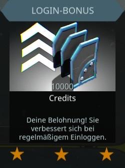 Login Belohnungen
