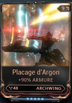 Placage d'Argon