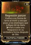 Regresión panzer