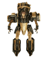 Necramech back view transparent background