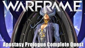 Warframe Apostasy Prologue Story Quest Complete Playthough