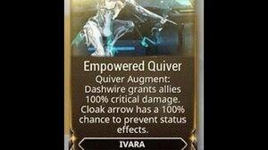 WARFRAME - Ivara Empowered Quiver (Augment)