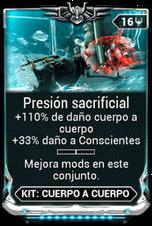Presión sacrificial