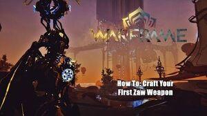 Warframe How To Craft Your First Zaw - Plains of Eidolon