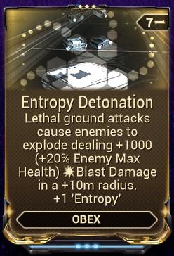 Entropy Detonation