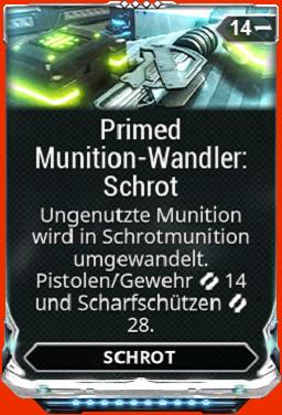 Primed Munitionswandler Schrot
