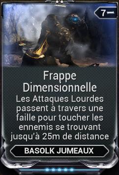 Frappe Dimensionnelle
