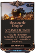 Message de l'Augure