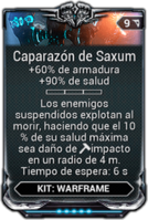 Caparazón de Saxum