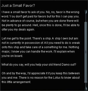A Favor For Darvo