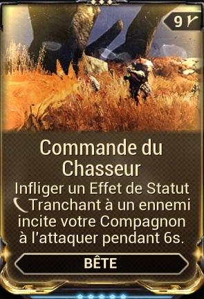 Commande du Chasseur