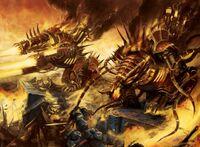 Chaos beasts break marine's line
