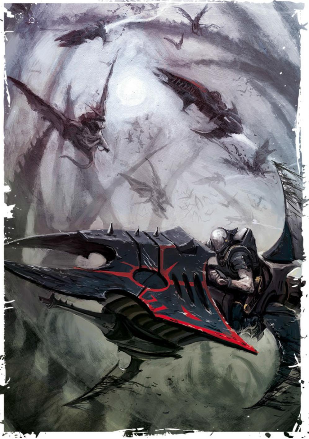 Warhammer 40k Dark Eldar Aeldari Drukhari Bits:Reaver Jet Bike Splinter Rifles 3