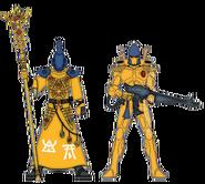 Ясновидец и страж Йандена (цветовая схема)