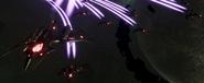 Darkstar Fighters in Space