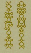 Hieroglyphs of a monolith of necrons