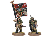 Imperial Guard Cadian Medic and Standard 1