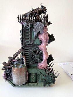 127109-Daemon Engine, Nurgle, Plague Tower, Super-heavy, Work In Progress.JPG