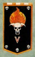 Flaming Skulls Chaos Titan Legion Icon