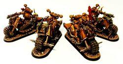 Games Workshop Warhammer 40k Chaos Space Marines Marine Bike Head Biker Metal C