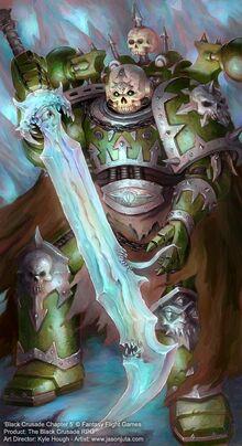 Чемпион Хаоса разговаривает с Демоническим оружием.jpg