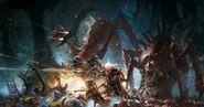 Eldar fighting the tyranids 2
