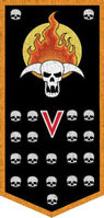 Flaming Skulls Moderati Banner