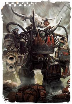 Ghazghkull Thraka Orks Prophecy Wolf Makari Warhammer 40K Warboss Mega Armor