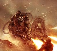 Burning Guardsman