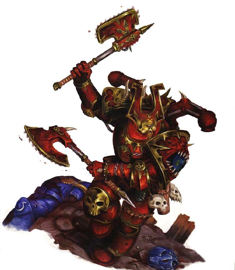 Chaos Space Marines Khorne Berzerkers Warhammer 40k Marine NEW