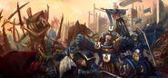 Calgar Honour Guard vs. Behemoth 2