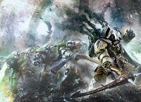 Mortarion Deathshroud Battle