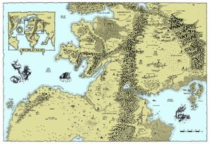 Map of the Warhammer World