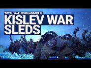 Kislev War Sleds Unit Spotlight - Total War- WARHAMMER III