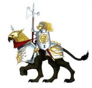 Gold Lion on Demigryph