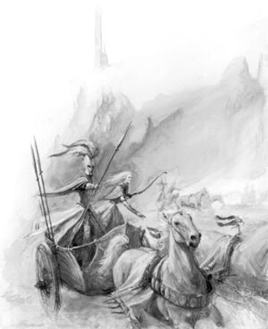 Tiranoc Chariot High Elves 6th Edition Black&White Illustration.jpg