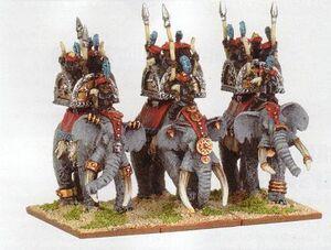 Arabian Elephants Araby Warmaster Miniatures.jpg