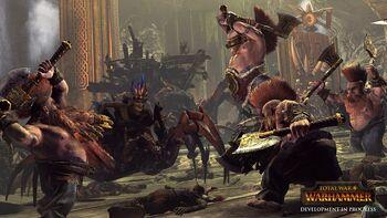 Dwarf Slayers vs Forest Goblins Total War Warhammer Illustration.jpg