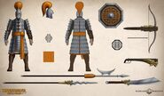Total-war-warhammer-3-grand-cathay-tabletop-rules-concept-art-infantry-armour-crossbowman