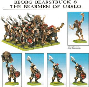 Beorg Bearstruck Bearmen of Urslo Dogs of War 5th Edition miniatures