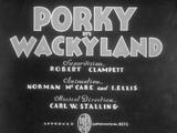 Porky in Wackyland