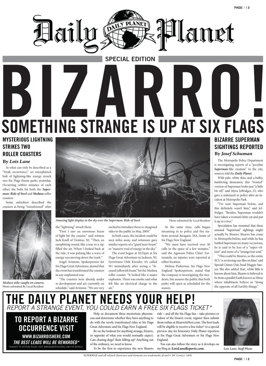 Bizzaro! Something Strange is Up at Six Flags