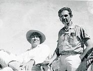 Artist Fred Sexton and director John Huston