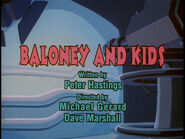 Baloney and Kids Title Card