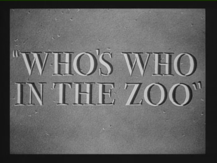 Who's Who in the Zoo