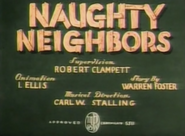 Naughty Neighbors Title Card (Colored Version)