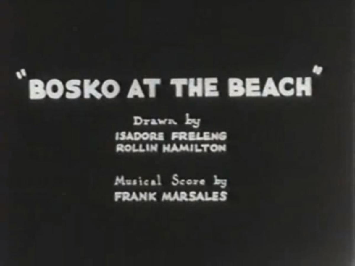 Bosko at the Beach