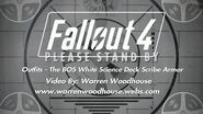 FALLOUT 4 (PS4) - Outfits - The BOS White Science Deck Scribe Armor