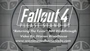 "FALLOUT 4 (PS4) - ""Returning The Favor"" MM Walkthrough"